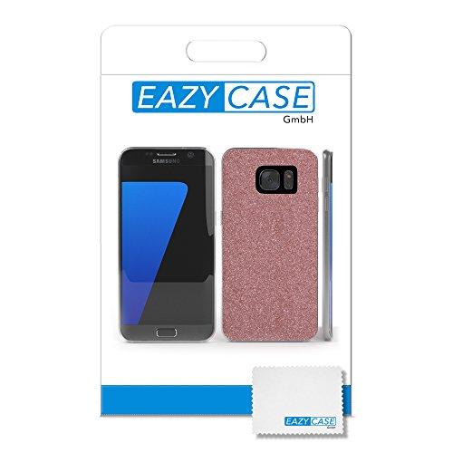 Samsung Galaxy S7 Edge Hülle - EAZY CASE Handyhülle - Ultra Slim Glitzer Schutzhülle aus Silikon in Champagner Glitzer Rosé