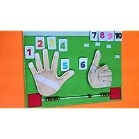 Juguete sensorial,Juguete de aprendizaje, Juego de paño silencioso , Ábaco educativo en fieltro para enseñar a aprender matemáticas hecho a mano.