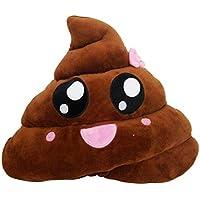 ★♣ Irona Divertente Emoji Emoticon Cuscino Cuore Occhi Poo forma cuscino