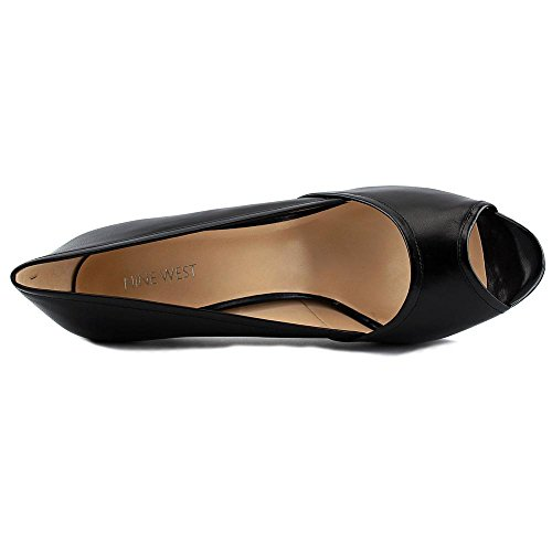 Nine West Cameo Cuir Talons Compensés Black