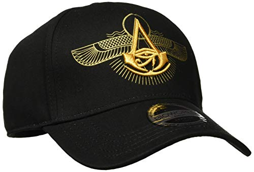 Bioworld EU Assassin's Creed Origins Embroidered Crest Logo Curved Bill Baseball Cap, Black Casquette, Grey (Grey Grey), Taille Unique Mixte