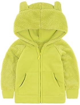 Bebé Niños Chaquetas con capucha de polar Abrigos con capucha Chaquetas Deportivas Fleece Trajes Cálidos para...