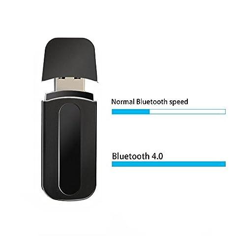 Mackertop adaptateur récepteur USB Bluetooth adaptateur sans fil récepteur de musique kit voiture pour voiture Audio Stéréo/haut-parleur/casque Système de son, haut-parleurs portables, casque, voiture (aux in) avec câble de