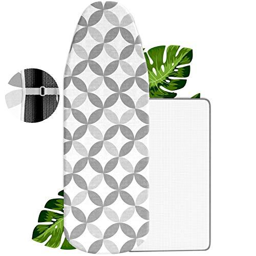VINEL® NEU Bügelbrett-Bezug 120x40 - Das Bügel Wunder Nr.1 - Universeller Bügeltisch-Bezug mit Slim-Fit Funktion - Ideal für Ihr Dampfbügeleisen | 100% Baumwolle