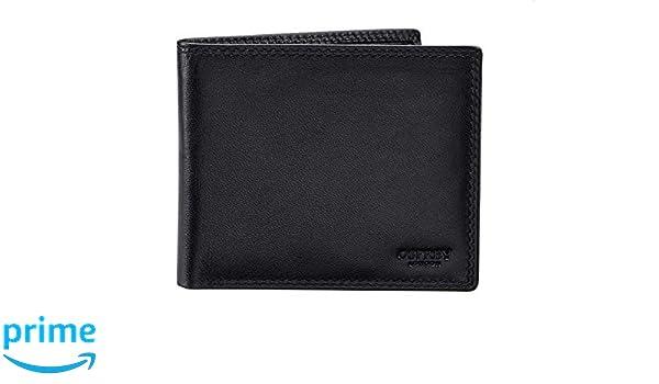 efbd60922fce0 Osprey London Hornbeam Billfold Full Grain Leather Wallet Coin Section  Colour  Black  Amazon.co.uk  Luggage