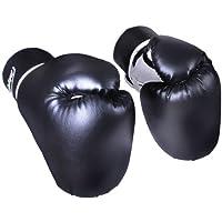 Guantes de Boxeo - Profesionales Unisex Adulto, para Entrenamiento en Saco Combate Kick Boxing, Muay Thai, MMA, UFC, Sparring, Negro/Blanco - Guantes de Combate, Guantes para Saco