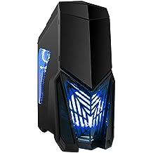 Juego Max Destructor Gaming para PC con 3 x 12 cm LED azul ventiladores