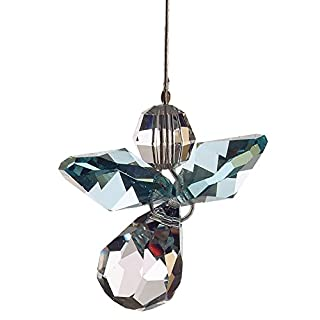 Swarovski Hanging Crystal Guardian Angel Birthstone Suncatcher MARCH - AQUAMARINE