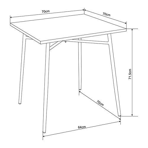 Delamaison Table de Jardin FERMOB en Acier carré 70x70cm BRUGE