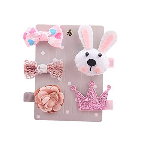 MEIbax 5 Stücke Kinder Infant Haarnadel Baby Mädchen Cartoon tiermotive Haarspange Set (Niedliche Einzigartige Halloween-kostüme Für Kleinkinder)
