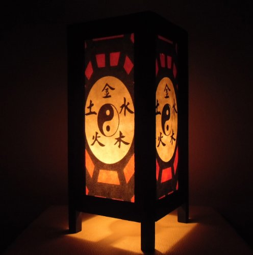 Raro Asia Thai lampada di tavole Buddha stile comodino Yin