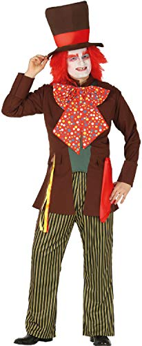Fancy Me Herren Eccentric Movie Hatter Alice im Wunderland TV-Buch Film Halloween Karneval Kostüm Outfit