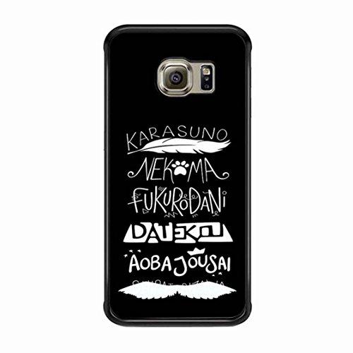 Produktbild Haikyuu Teams Weiß On Schwarz hülle, handy zubehör / Color Schwarz Plastic / Device Samsung Galaxy S6 Edge