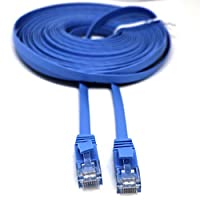 Winkey Ethernet Cable,20M RJ45 CAT6 Ethernet Network LAN Cable Flat UTP Patch Router Interesting Lot (Blue)