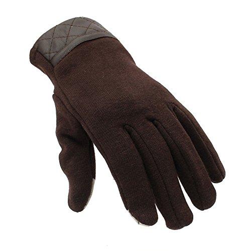 EsportsMJJ Herren Winter Touch Screen Handschuhe Voll Finger Handschuhe Für Iphone 6/6 S Plus Iphone 6/6 S Tablet Smartphon-Braun