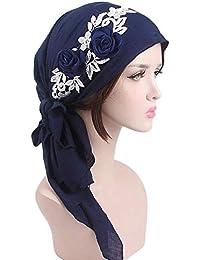 Targogo Señoras Musulmanas Turban Hijab Retro Algodón Pañuelo Del Ocasional  Casquillo Islámico Abaya Dubai Mujeres Diadema c452b960431