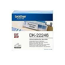 Brother DK22246 Etichette a Lunghezza Continua, Carta Adesiva, 103.6 mm x 30.48 m, Nero/Bianco