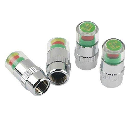 Aolvo Reifendruck-Messer, 2,4 bar, 36 PSI, Auto-Ventilkappen, Sensor, Indikator mit 3 Farben, Reifendruck-Überwachung, Werkzeug, verhindert Platten & Luftverlust, universal, 4 Stück