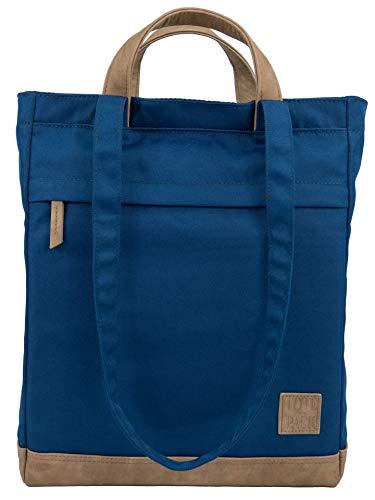 UNR!VALED TOTEPACK Daypack Rucksack Tasche 2 in 1 BLAU Handtasche Office-Bag Damen Shopper Umhängetasche Tote-Bag Wickelrucksack A4 Büro Uni Schule -