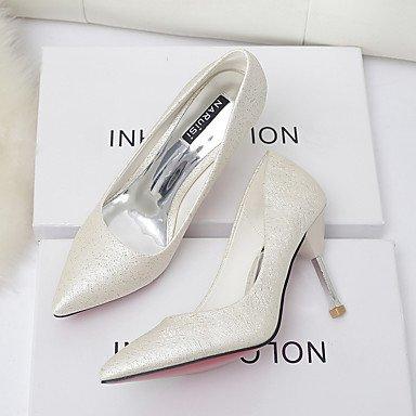 Moda Donna Sandali Sexy donna tacchi Primavera / Autunno Comfort esterno in pelle Stiletto Heel altri rosa / Bianco / argento / a piedi di mandorla White