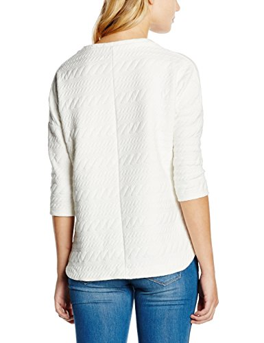 Cortefiel Damen Sweatshirt Sudadera Gogado Weiß