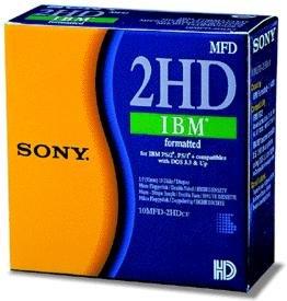 Sony - 8,9 cm (3,5 Zoll) Diskette, 10er Pack, 1.44 MB formatiert (IBM)