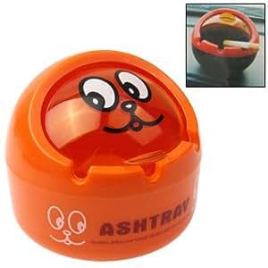 Impression De Dessin Animé Balle Rabat En Forme De Couvercle Cigarette Cendrier Cendrier (Orange)