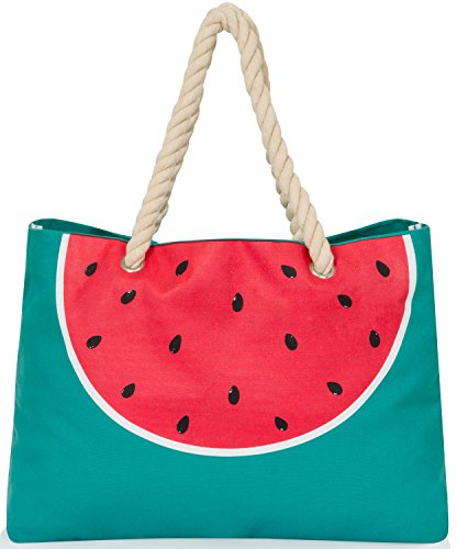 ladies-large-canvas-summer-beach-tote-shopping-bag-with-rope-handle-watermelon-print