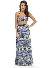 Ladies Printed Maxi Skirts (Navy Multi) (14)