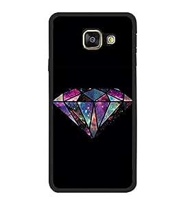 FUSON Diamond Isolated In Dark Designer Back Case Cover for Samsung Galaxy A7 (6) 2016 :: Samsung Galaxy A7 2016 Duos :: Samsung Galaxy A7 2016 A710F A710M A710Fd A7100 A710Y :: Samsung Galaxy A7 A710 2016 Edition