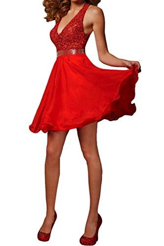 Promgirl House - Robe - Trapèze - Femme Rouge - Rouge