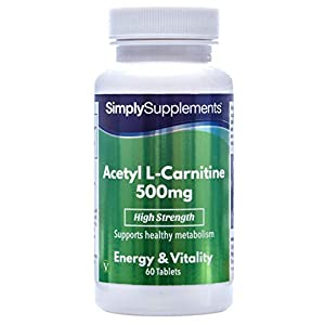 41gUZmyutUL. SS300  - Acetyl L Carnitine Tablets 500mg | Vegan & Vegetarian Friendly | 60 Capsules | Manufactured in The UK