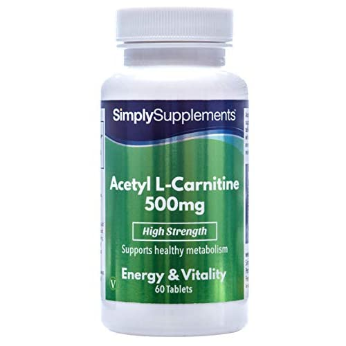 Acetyl L Carnitine Tablets 500mg | Vegan & Vegetarian Friendly | 60 Capsules | Manufactured in The...