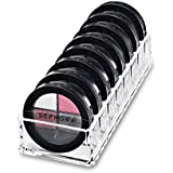 Acrylic Compact Organizer & Beauty Care Holder Provides 8 Space Storage   byAlegory (Clear)