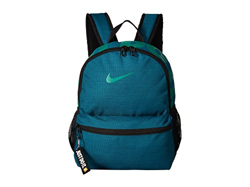 Nike Unisex-Kinder Y NK BRSLA JDI Mini BKPK Rucksack, Mehrfarbig (Geode Teal/Black/NEP), 15x24x45 Centimeters (Nike Rucksack Teal)