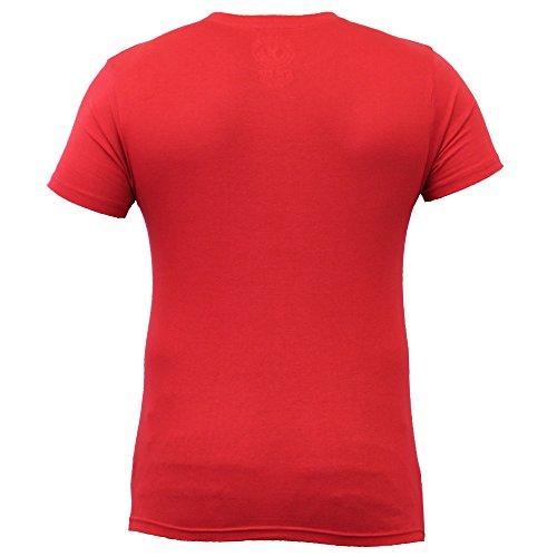 Herren Kurzärmelig T-shirts Von Soul Star Rot - LUCKOPKB