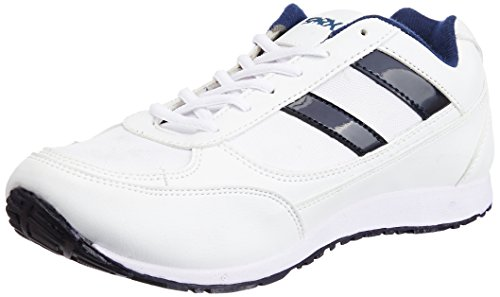 Sparx Men's Sparx Jogger White Canvas Sneakers - 8 UK (8391591)  available at amazon for Rs.399