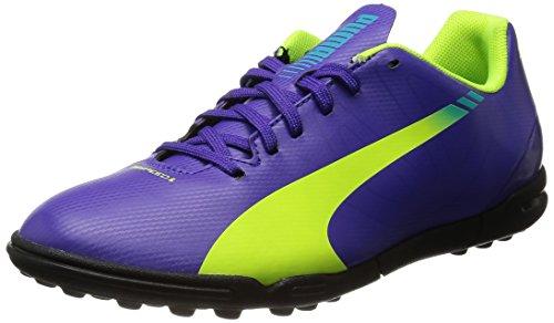 Puma Evospeed 5.3 Tt Jr, Chaussures de football mixte enfant Violet (Prism Violet-Fluro Yellow-Scuba Blue 01)