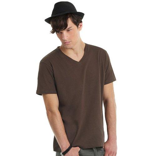 B&CHerren T-Shirt Braun - Braun
