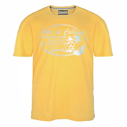 XXL Redfield gelbes T-Shirt mit sommerlichem Print Gelb