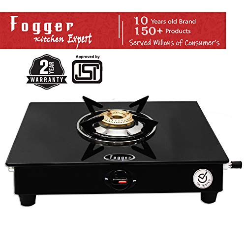 Fogger Glass top 1 Burner Gas Stove (ISI Approved)