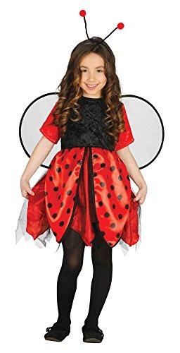 Marienkäfer Kostüm Kinder - Marienkäfer Kostüm Mädchen - Kostüm Marienkäfer mit Flügel und Haarreifen (128/134) (Marienkäfer Kostüm Mädchen)