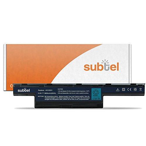 subtel® Notebook Akku für Acer Aspire 4251 / 4252 / 4333 / 4551 / 4552 / 4733 / 4738 /... (8800mAh) AS10D51