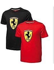 Camiseta niño Ferrari escudo rojo talla 6 años