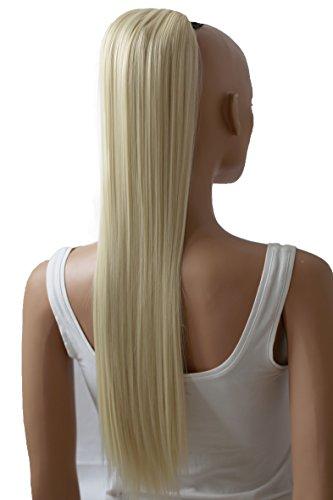 PRETTYSHOPHaarteil Zopf Pferdeschwanz Haarverdichtung Haarverlängerung VOLUMINÖS 65cm platinblond #613A PH614