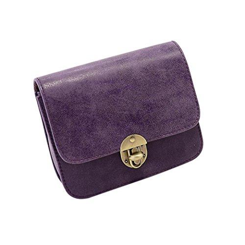 Borsa del tempo libero, moda donna in pelle borsa crossbody spalla pacchetto di Kangrunmy Viola