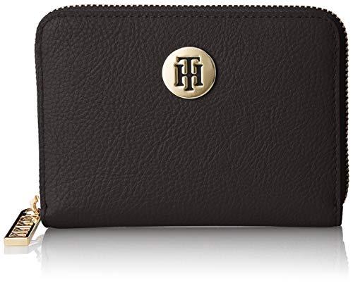 Tommy Hilfiger Damen Th Core Comp Za Wallet Geldbörse, Schwarz (Black) 2.5x10x13 cm