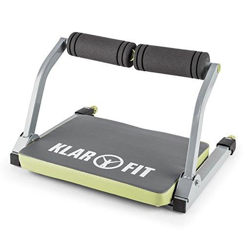 Klarfit Abhatch AB Core Bauchmuskeltrainer Bauchtrainer Allround-Trainer (Schaumstoffpolster mit 7 cm Dicke, gepolsterte Sitzfläche mit Kunstlederbezug) grau