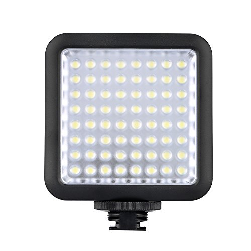 Godox LED 64 Luce Video Fill Light LED per DSLR Fotocamera Videocamera mini DVR come la Luce di Riempimento per Nozze Intervista del Notiziario Macrofotografia