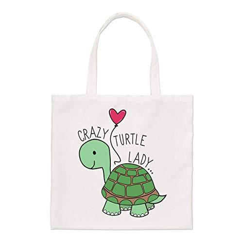 Verrückt Schildkröte Damen Regular Tragetasche